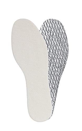Superweiche und warme Alu-Einlegesohlen für den Winter mit Aluminium Unterseite zur Isolierung, hergestellt in der EU von Kaps, verschiedene Größen (40 EUR / 7 UK Damen)