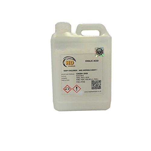 Ácido oxálico puro al 99,5%, limpiador y eliminador de óxido para cubiertas,...