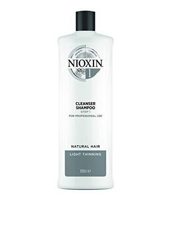 Nioxin System 1 Cleanser Shampoo - Innovatives 3-Stufen System - Für naturbelassenes, dezent dünner werdendes Haar