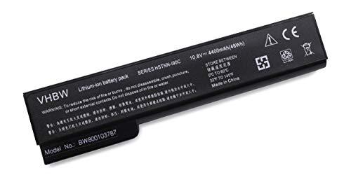Batterie LI-ION 4400mAh 10.8V en Noir pour HP Compaq 6360t Mobile Thin Client etc, remplace 628369-421, 628664-001, 628666-001, 628668-001