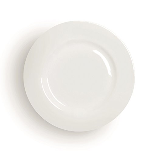 Excelsa Modern Assiette Plate Porcelaine Blanc 27 X 27 X 2 cm