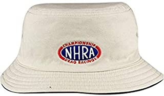 NHRA Hat Reversible Bucket (Khaki/Black with Flames)
