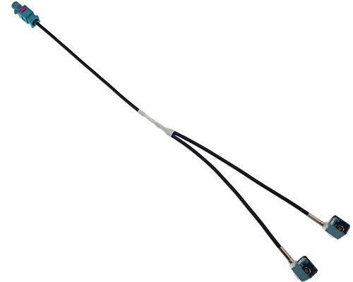 Adaptateur d'antenne double Fakra mâle Diversity câble d'antenne pour radio autoradio, GPS