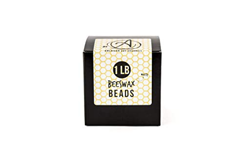 American Soy Organics All-Natural Beeswax Beads: Pure, Cosmetic Grade: 1 lb of White Beeswax for Candle Making