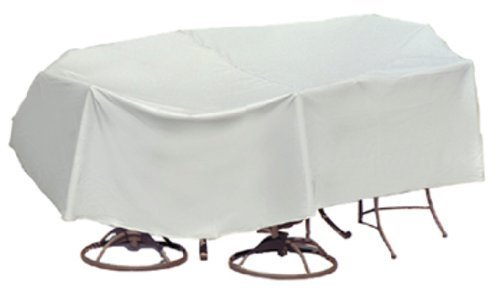 Housses de Protection résistantes aux intempéries pour Table de Patio et Chaise à Dossier Haut, 80 x 96 cm, Table Ovale et rectangulaire, Gris par Protective Covers