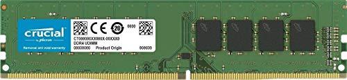Crucial 16GB Single DDR4 2666 MT/s (PC4-21300) DR x8 DIMM 288-Pin Memory - CT16G4DFD8266