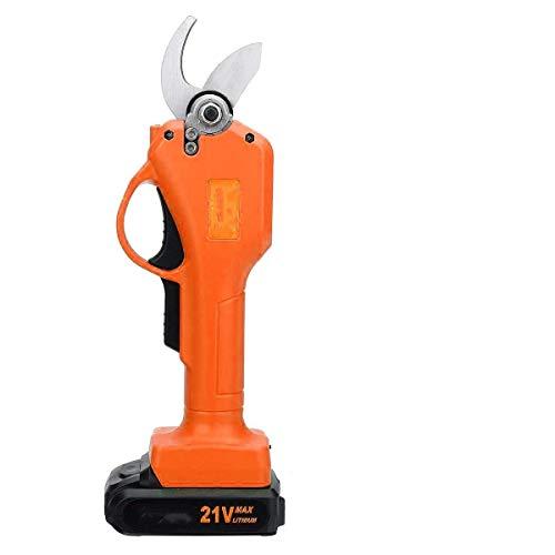 no-branded Herramientas de Corte de 40 mm 21V eléctrico Tijeras de podar Tijeras de poda inalámbrico Recargable de podar Tijeras Podadoras de jardín con 1 batería ZHQHYQHHX