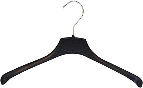 Kiroplast 25 perchas de plástico para camisas, camisetas, perchas, para ahorrar espacio, antideslizantes, de hombro estrecho (39 cm)