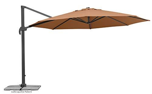 Schneider Sonnenschirm Rhodos Grande, sand, ca. 400 cm Ø, 8-teilig, rund