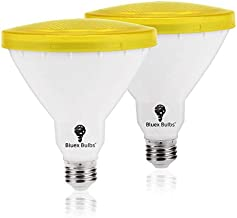 2 Pack Par38 Amber Yellow LED Bug Light Bulb E26 Flood Light Bulb - 10W 100W Equivalent, Warm Bug-Free Lighting for Home, Porch, Yard, Indoor Outdoor, Patio, Holiday, Party Bulb, Insect Repellent