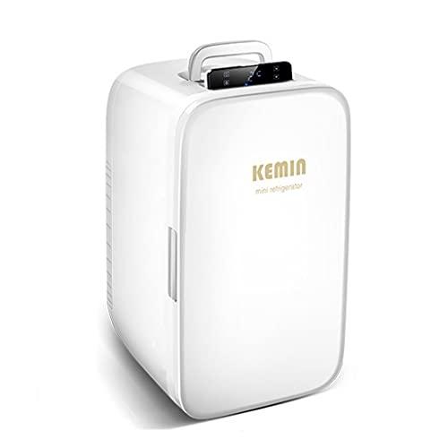 LS Mini Nevera, 20 litros Enfriador & Calentador, Pequeño Refrigerador Portátil para Automóvil Y Hogar, DC 12V ~ 24V / AC 110~220V, Nevera Compacta Termoeléctrica con Estantes Extraíbles