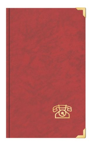 Telefonbuch Adressbuch ca. DIN A5 mit Messingecken rot