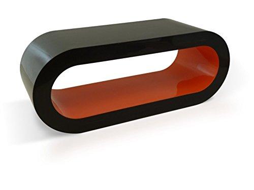 Zespoke Design Moyenne Brillant Rétro Noir À L'Orange 90cm Table Basse Cerceau Position Intérieure/TV