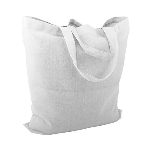 Cottonbagjoe 10 bolsas de algodón   38 x 42 cm   sin estampado   con dos asas cortas   se pueden pintar   certificado Öko-Tex 100   bolsa de yute   bolsas de tela