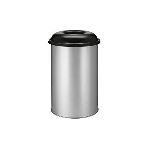 Papierkorb, selbstlöschend - Inhalt 200 l, Höhe 950 mm, weißaluminium/graphitschwarz - Sicherheits-Papierkörbe self-extinguishing waste paper bin