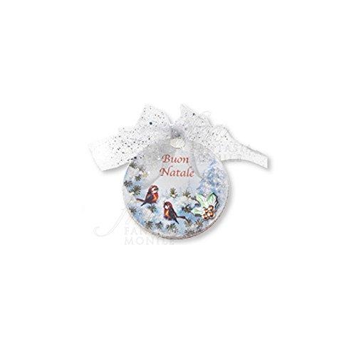 Kerstdecoratie vogel voor kerstboom hout beschilderd zilver 925 Acca N 10 DA