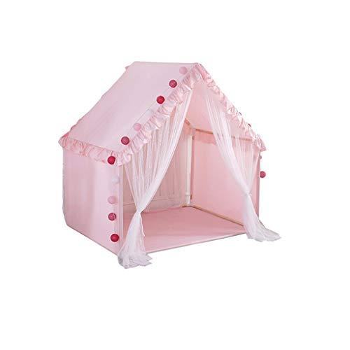 SZQ-Play Tents Indoor House-like Tent, Children's Bedroom Sleeping Tent Kids Play Tent - Mesh Door Curtain - 95 * 135 * 145CM - (Pink, Light Green) Kids Teepee (Color : Pink, Size : 95 * 135 * 145CM)