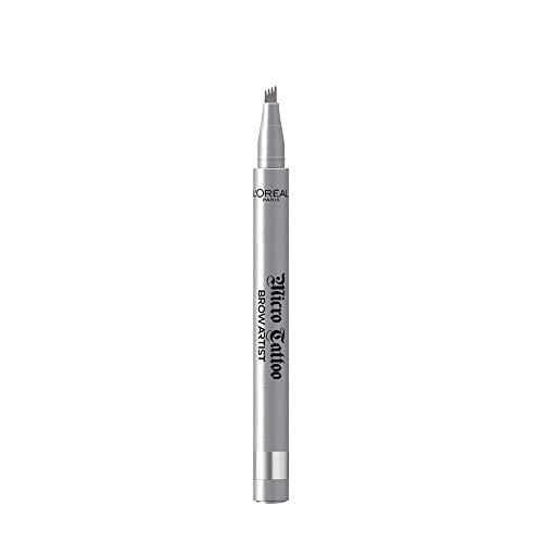 L'Oréal Paris Brow Artist Micro Tatouage 107 Cool Brunette, Augenbrauenstift mit Dreizack-Spitze für einen langanhaltenden Microblading-Effekt