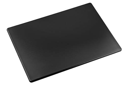 Commercial Black Plastic Cutting Board, Large 20x15 Inch