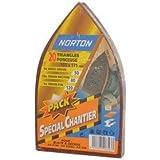 Norton - Lote de patines de lijar (20 unidades, triangulares, para múltiples lijadoras, granos surtidos)