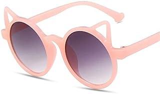 XKMY - XKMY Gafas de sol para niños, 1 unidad, diseño de orejas de gato, color rosa, morado y blanco, para niños, para bebés, para fiestas, al aire libre, color del marco: rosa