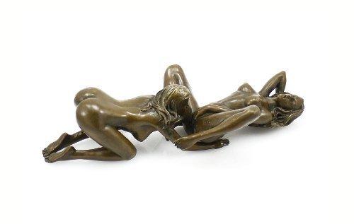 Kunst & Ambiente - Zweiteilige Erotik Bronzefigur - Skulptur - Lesbisches Paar - signiert - 100{c5802ff4ed68f6b87e4c48cb40264e6c2cc89b558645f3d015d67f5ea5869d01} Bronze - Sexy Figuren - Heiße Sexy Frauen