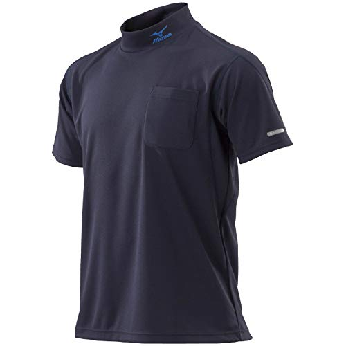 MIZUNO(ミズノ) ハイドロ銀チタンワークシャツ半袖 ウエア Tシャツ 半袖 (C2JA8184) 14ネイビー XL