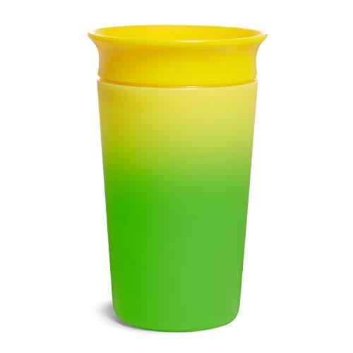 Munchkin 051868 - Munchkin Vaso para sorber que cambia de color Miracle 360°, 266 ml/9 oz, Amarillo, unisex
