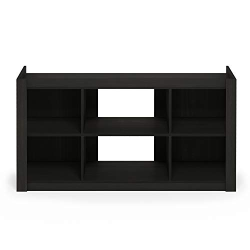 Furinno Fowler Multipurpose TV Stand Bookshelves, Espresso