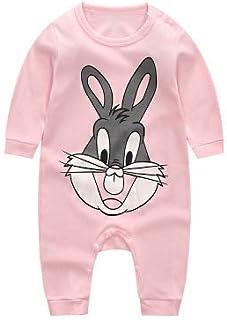 Baby Infant Romper Pyjama Winter Toddler Cartoon Pink Rabbit Outfit Jumpsuit Clothe set Long Sleeve Soft Dress Sleepsuit O...