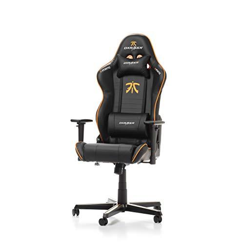 DXRacer (das Original) Racing R58 Gaming Chair Fnatic Edition für High End PC/PS4/XBOX/Nintendo, ergonomischer Schreibtischstuhl aus Kunstleder, Schwarz-Orange