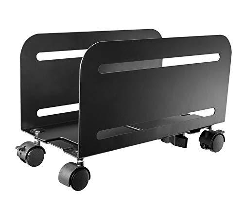 Value PC-Ständer, rollbar, Schwarz | rollbarer Computer-Ständer mit regulierbarer Breite zwischen 119-209 mm
