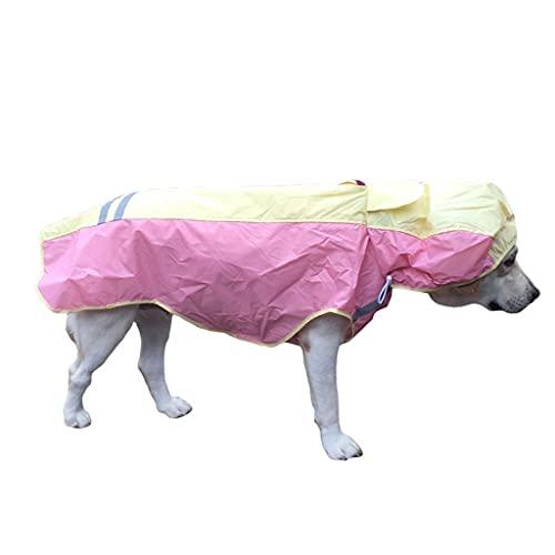 ZAJ Pascua Reflectante Impermeable Color Color Big Dog Ponchero Impermeable Impermeable Poncho Apto para Perros Grandes Grandes (Color : A, tamaño : 6)
