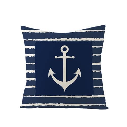 Almohada de Lino de algodón, Funda de Almohada, Funda de sofá, decoración de Cama para el hogar, 45x45 cm, decoración de Lino de algodón