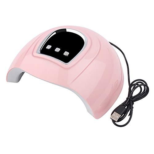 Nrpfell LáMpara LED UV de 54 W, LáMpara Secadora de UUAs LED de 18 Piezas para Curar Todos los Tipos de Geles de UUAs, Herramientas de Esmalte de UUAs con Temporizador 30S / 60S / 90S