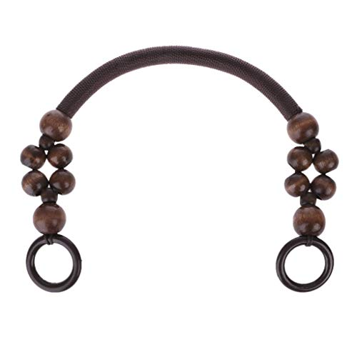 Yajiun - 1 o 3 manici per borsa a mano, in legno + plastica, manico per borsetta a mano, borsa per bricolage, 46 cm marrone