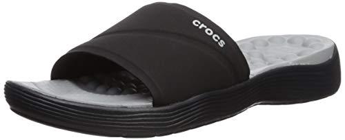 Crocs Damen Reviva Slide Women Sandalen,Schwarz (Black 060), 38/39 EU