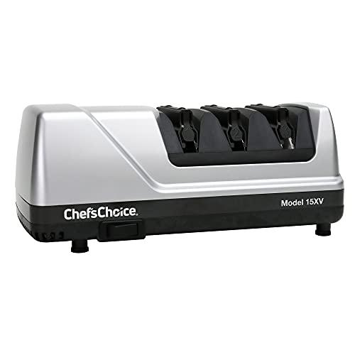 CHEF'S CHOICE 0087877011155 15XV aiguiseur à couteaux électrique, Gris