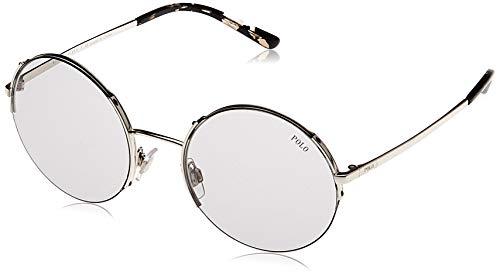 Polo 0PH3120 Gafas de sol, Redondas, 45, Silver