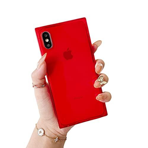 Cocomii Square Clear Schutzhülle für iPhone XS Max, Rot