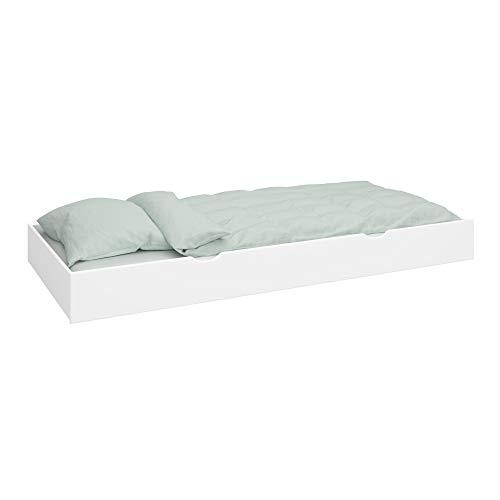 PKline Ausziehbett + Lattenrost für Hochbett Etagenbett Schubladen Bett Kinderbett weiß