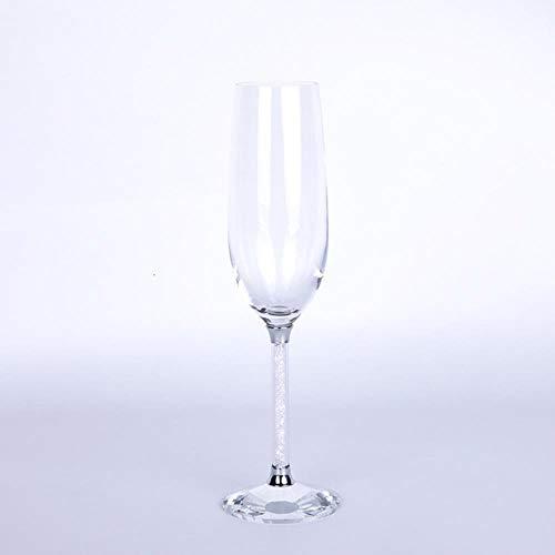 Ltong Bodum Drinkglas Bruiloft Champagneglazen Fluiten Feestbar Bubble Wine Tulip Cocktail Cup Tumble, Clear, 250ML