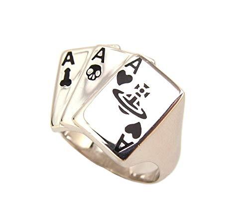 [ヴィヴィアン ウエストウッド] Vivienne Westwood 指輪 Marvin Card Ring マーヴィン トランプカード ORB オーブ リング SV925 (11.5) [並行輸入品]