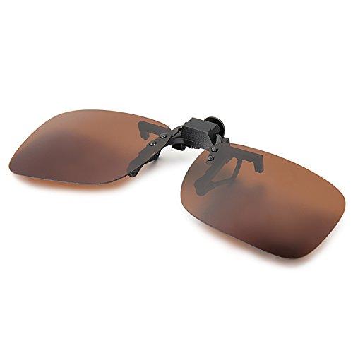 Aroncent - Occhiali da sole polarizzati con clip in metallo, infrangibili per guida, pesca, sport all'aria aperta