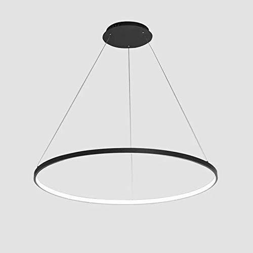 Creatividad en el Hogar Lampara Colgante Moderna Iluminacion de Techo Lampara de Diseno Interior Lampara de Mesa de Comedor Colgante de Metal Y Acrilico para Sala de Estar Regulable, HJY, Los 60cm