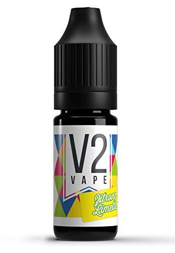 V2 Vape Zitrone-Limette AROMA / KONZENTRAT hochdosiertes Premium Lebensmittel-Aroma zum selber mischen von E-Liquid / Liquid-Base für E-Zigarette und E-Shisha 10ml 0mg nikotinfrei