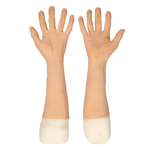 FXQ Soft-Silikon-Handgefertigte Handschuhe - Realistische männliche Haut Handschuhe Silikon-Handschuhe - zur Abdeckung Brand schrammt für DWT Transvestit Transgender Halloween Weihnachten Kostüme
