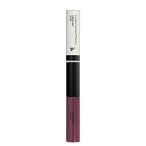 Manhattan Lips2Last Colour&Gloss – Lippenfarbe und Lipgloss in einem – Farbe Burgundy Purple 65N – 1 x 8ml