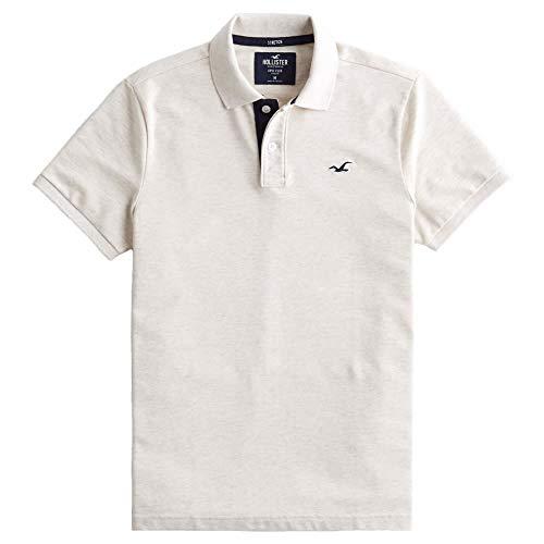 [ホリスター] メンズ ポロシャツ (半袖) STRETCH POLO オートミール L [並行輸入品]