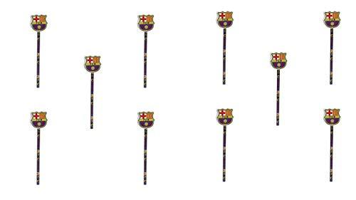 2414; pak 10 pennen in met rubber FC Barcelona; Officieel product, afmetingen 20x1,5x4 cm